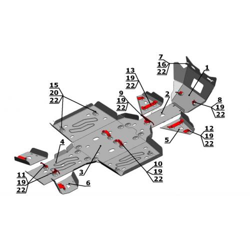 Комплект защиты для Arctic CAT 1000/700/550/500 i/XT/Ltd (2011-)